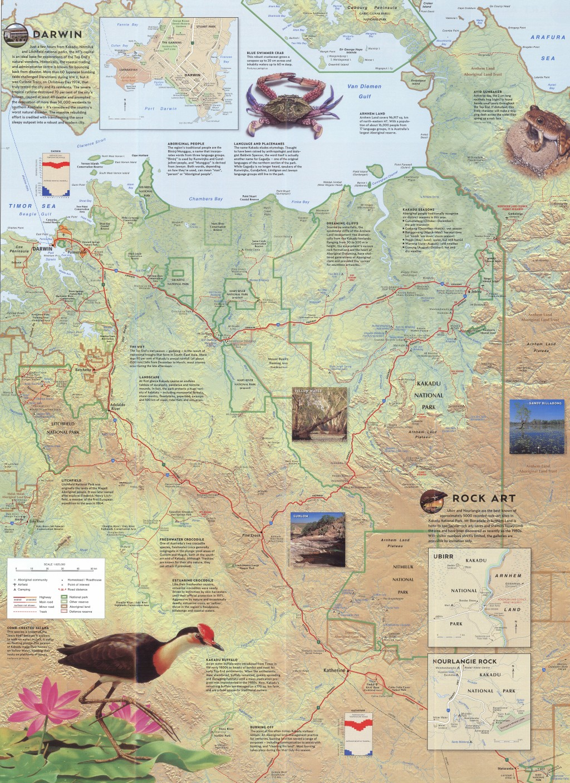 Kakadu Arnhem Land map Australian Geographic