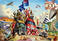 Australian Geographic 100 Aussie icons poster