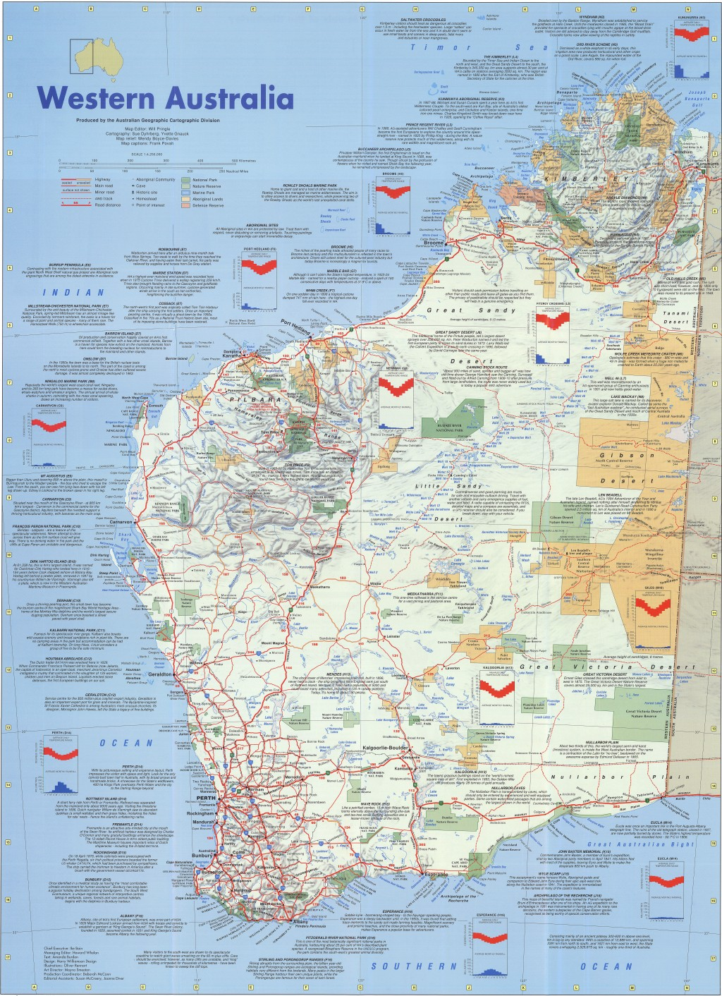 Western australia poster map australian geographic gumiabroncs Images
