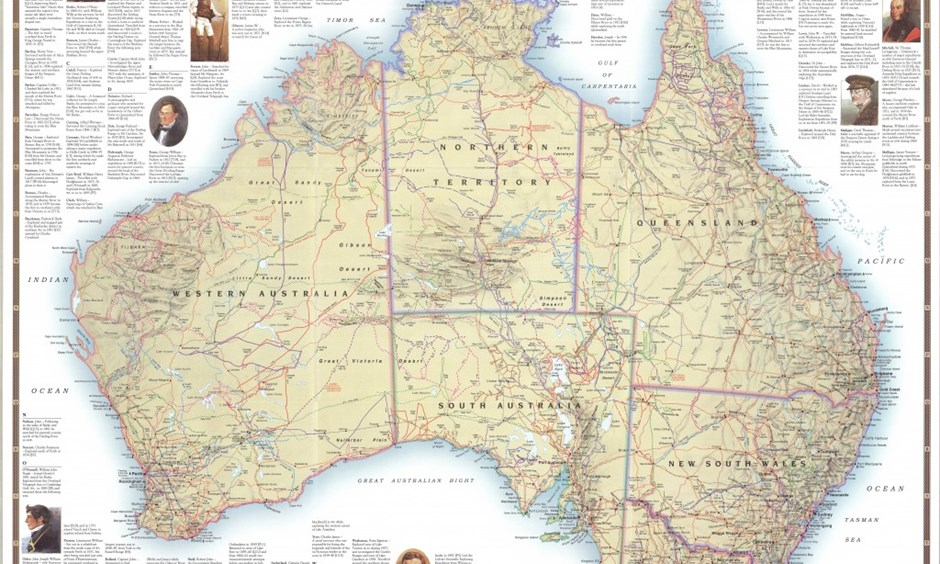 Maps Australian Geographic – Big Map of Australia