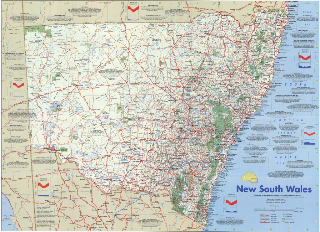 New south wales poster map australian geographic gumiabroncs Images