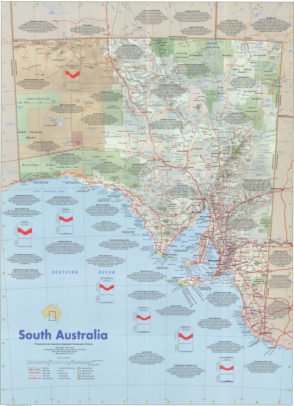 south australia map australian geographic