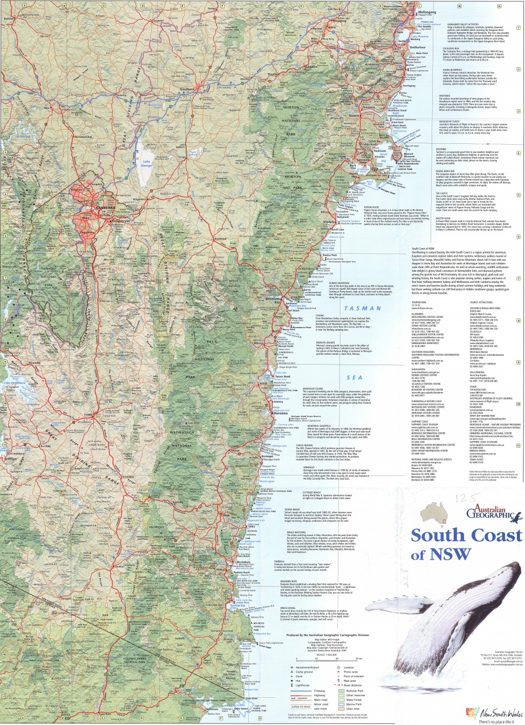 NSW South Coast map Australian Geographic