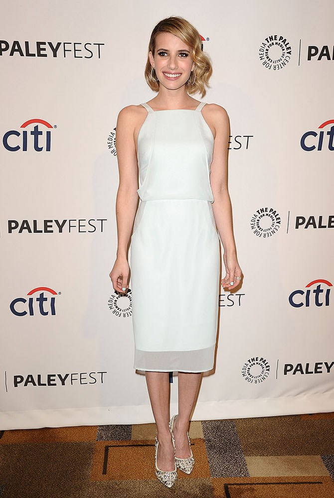 Emma Roberts broke out some Finders Keepers at last month's PaleyFest. Dressing up the simple dress with Jimmy Choo heels, it just goes to show that it's not how much you pay but how well you pull it off. Kudos, Em.