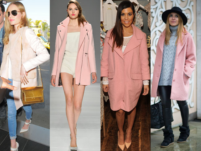 Cold weather trend: pink coats