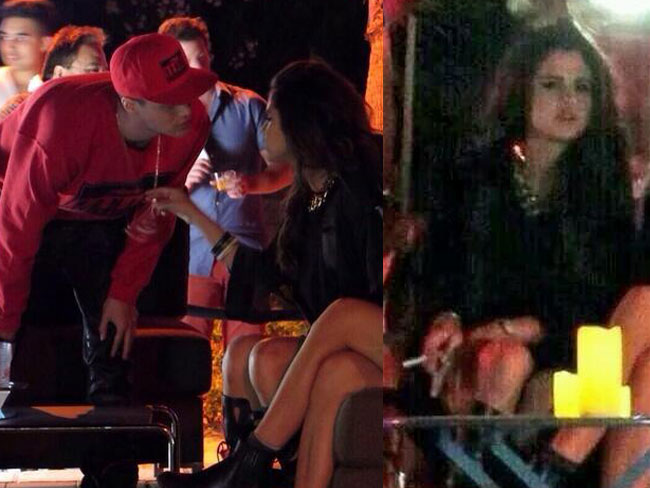 Selena Gomez Smoking A Cigarette Image