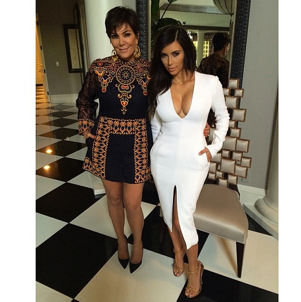 In last week's mid-season premiere of *Keeping Up With The Kardashians*, Kim admitted she thinks Kris is a total copycat. Reckon the mother-daughter duo share push-up bras?