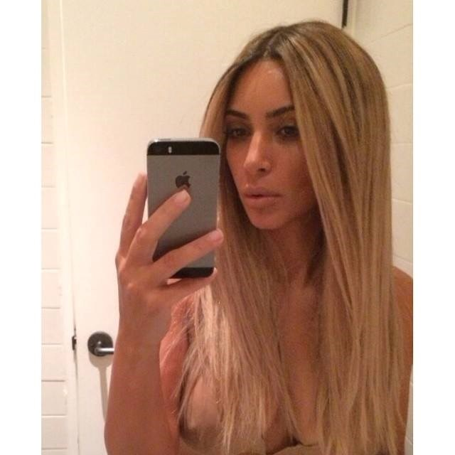 Uh oh - we suspect this boob moment wasn't intentional. While revealing that her freshly blonded hair was in fact just a wig, Kim accidentally showed... well, noone's quite sure whether it's bra or nipple. Safe to say, the reality star is probably cringing already.