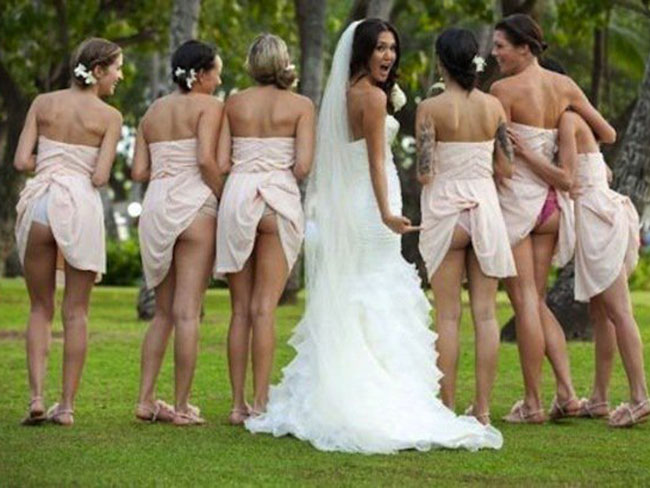 The cheeky new bridal trend