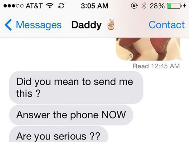 This genius sexted her Dad