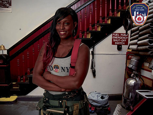 First woman featured in NYC firefighters calendar