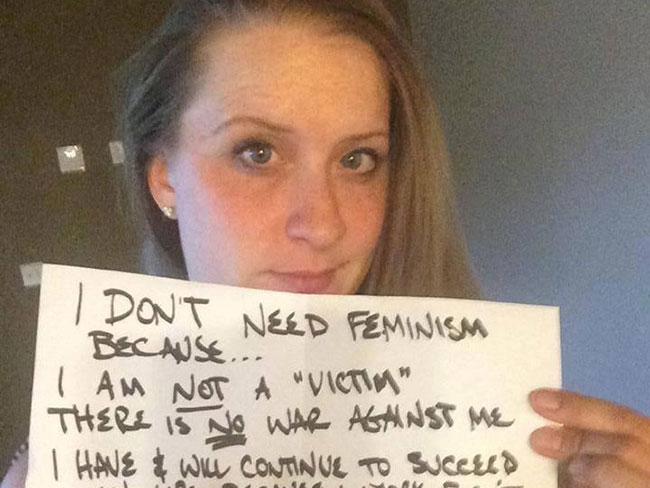 16 of the most worrying #WomenAgainstFeminism posts
