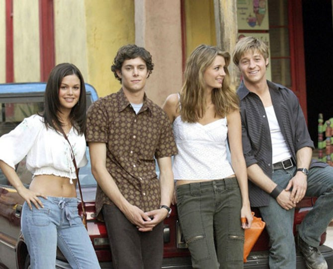 """""""[The wardrobe department] would totally have been happy just dressing us as regular teenagers, to be honest. Not in a bad way, we would have looked adorable, but we would have been just your average Orange County teenagers."""" Summer's TJ look, complete with drawstring jeans and peasant crop top, has to be in our top three."""
