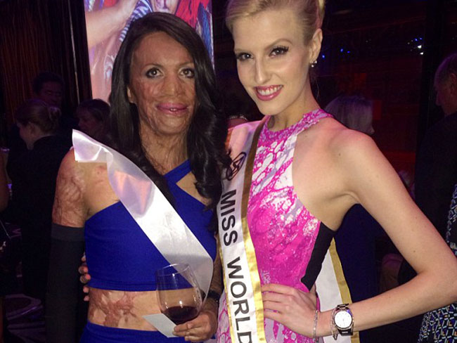 Turia Pitt judges Miss World Australia