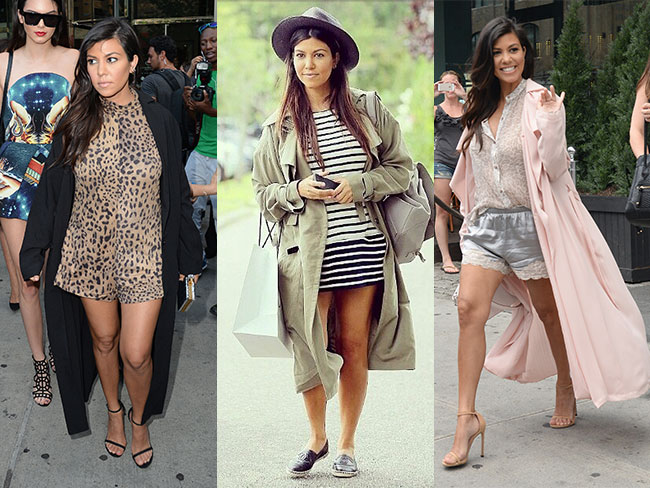 Kourtney's bump style gets weird