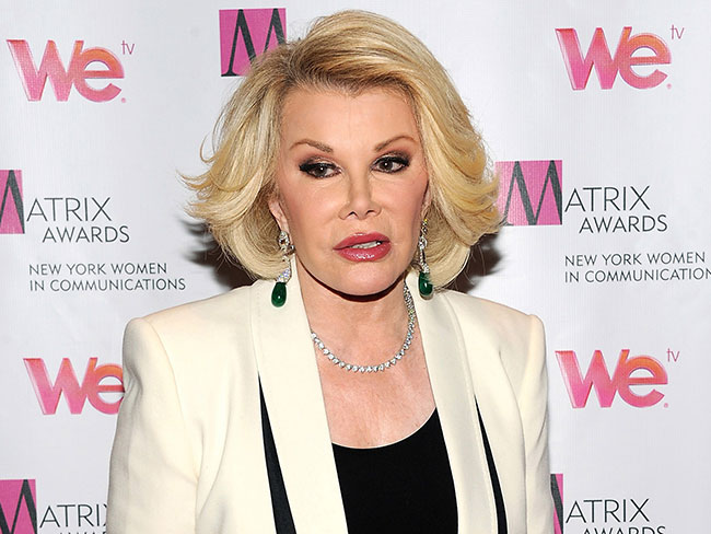 Joan Rivers still on life support