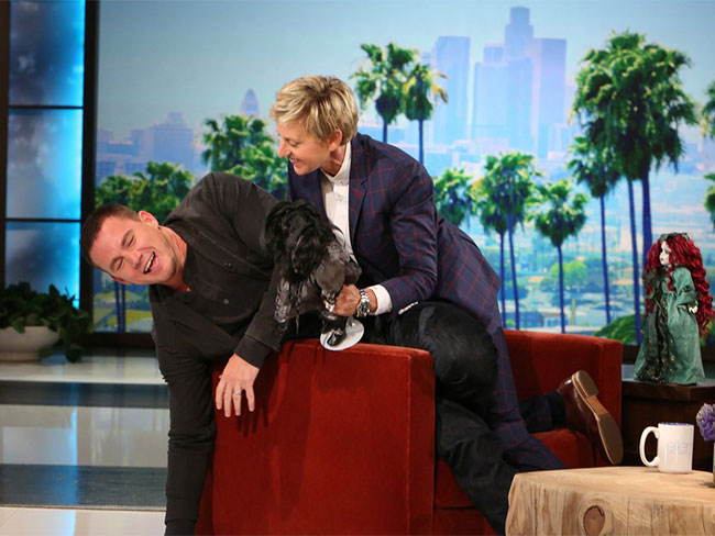 Watch Channing freak out on Ellen