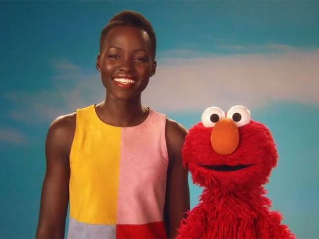 Lupita and Elmo talk skin
