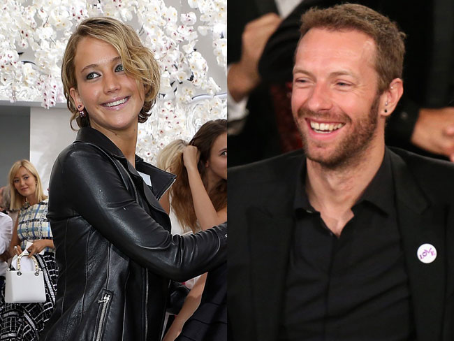 "Chris Martin ""serenades"" JLaw at gig"