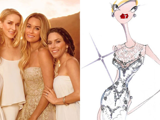 LC's dress sketch revealed