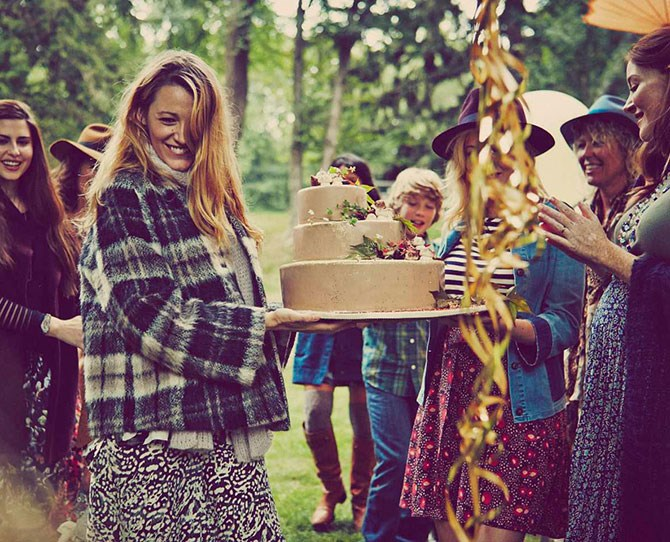 """Blake has given us another reason to be thankful for her lifestyle site, [Preserve](http://www.preserve.us/ target=""""_blank""""). In two new posts, """"Bringing Up Baby"""" and """"Preserve Celebrations: Falling for Family,"""" Blake has documented her gorgeously rustic, autumn-themed baby shower."""