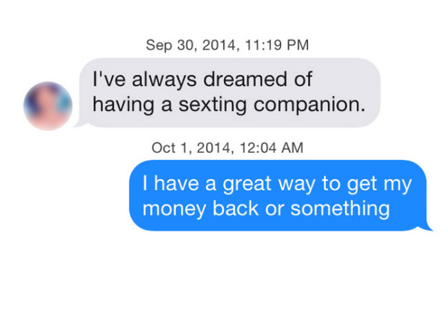 What happens when you use iOS8 predictive text on Tinder