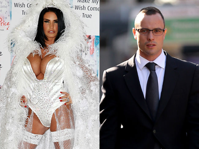 Oscar Pistorius was messaging Katie Price during his trial