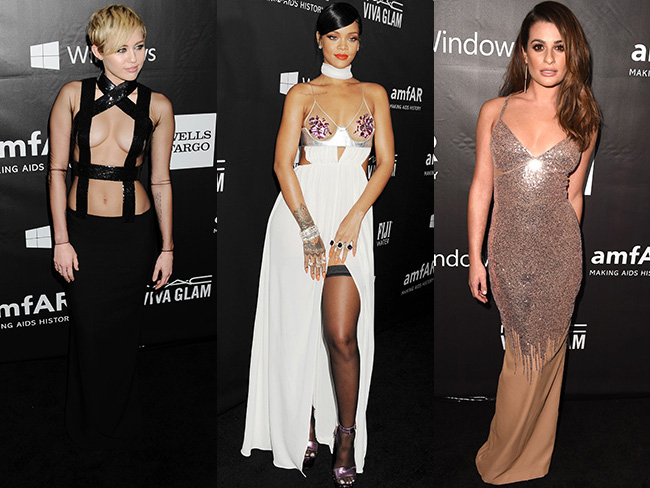 From the amFAR red carpet...