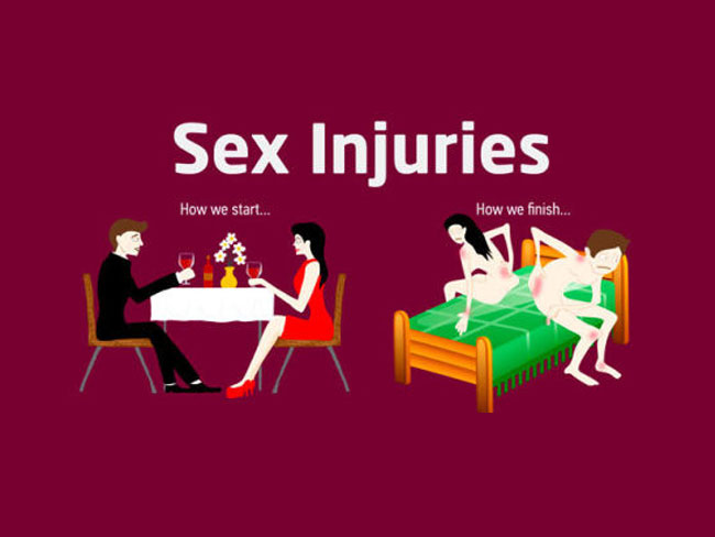 New study reveals the most common sex injuries
