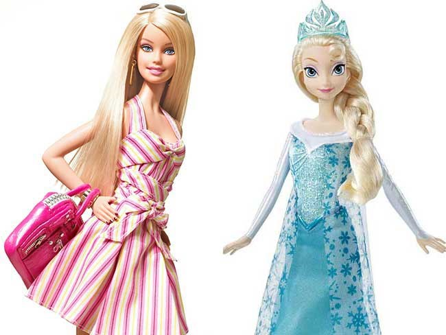 Kids shunning Barbie for Frozen dolls this Christmas