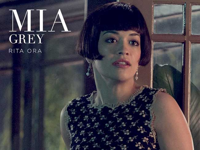 Rita Ora dons a dodgy wig in first look at Mr Grey's family