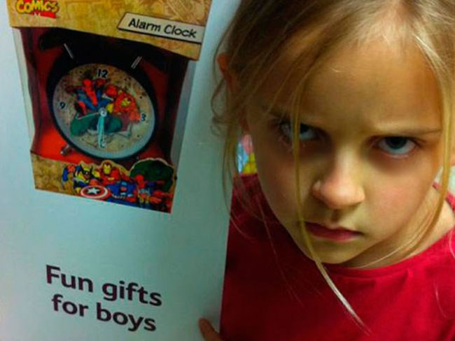 7-year-old girl schools Tesco in gender stereotyping
