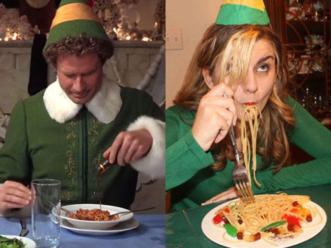 Woman becomes Buddy the Elf for a day and TOTALLY nails it