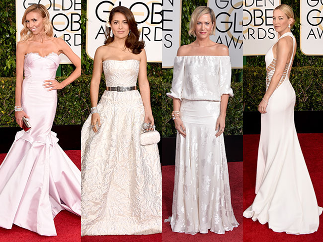 Wedding-worthy dresses at the Golden Globes