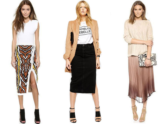 Midi skirts for work AND party times