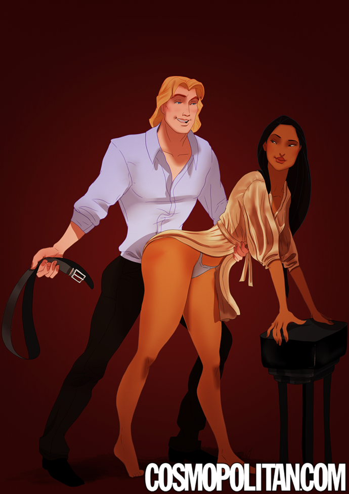 "**Pocahontas and John Smith, *Pocahontas*. ** ""'We're here because you said yes, Anastasia. And you ran from me. I am going to hit you six times, and you will count them with me.' Why the hell doesn't he just get on with it? He always makes such a meal of punishing me."" — a belt too far, ***Fifty Shades of Grey,* p. ****505**"