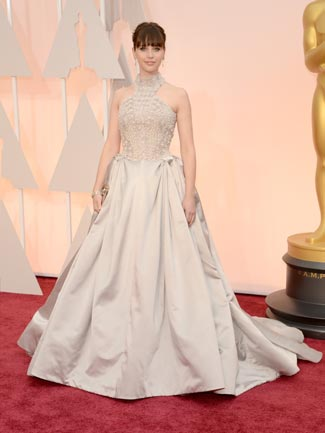 Felicity Jones in Alexander McQueen