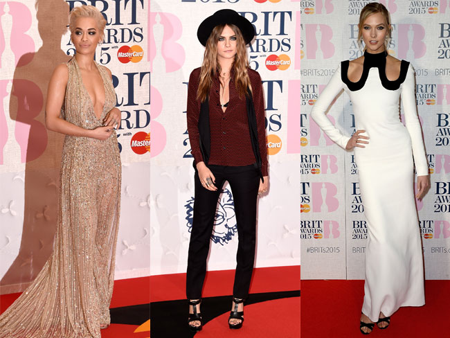 Celeb style from the Brit Awards 2015