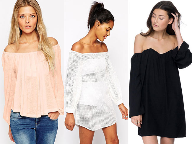 The only off-the-shoulder pieces you need in your life