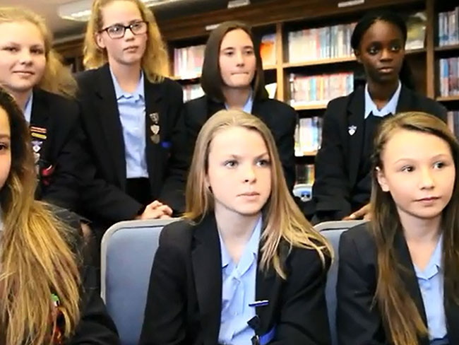 Schoolgirls on sexism