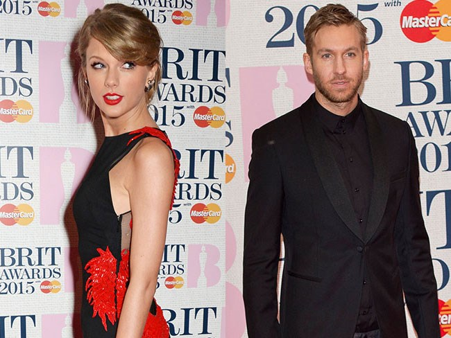 Calvin Harris and Taylor Swift were flirting up a storm at the Brit Awards