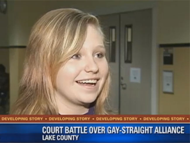 Awesome 14-year-old fights for gay-straight-alliance club for her school in court
