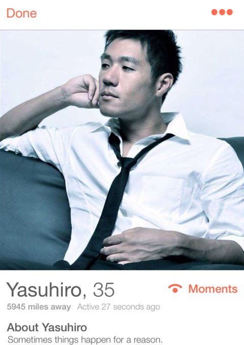***YASHUIRO, 35***   Tokyo *Sometimes things happen for a reason.*
