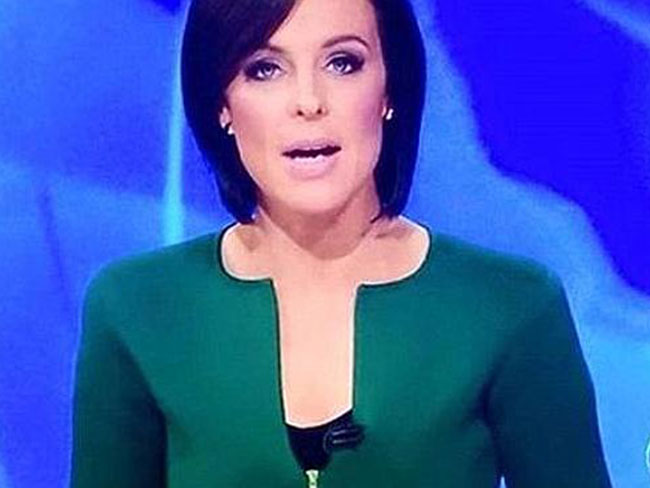 Natarsha Belling's 'penis-shaped' neckline has gone viral