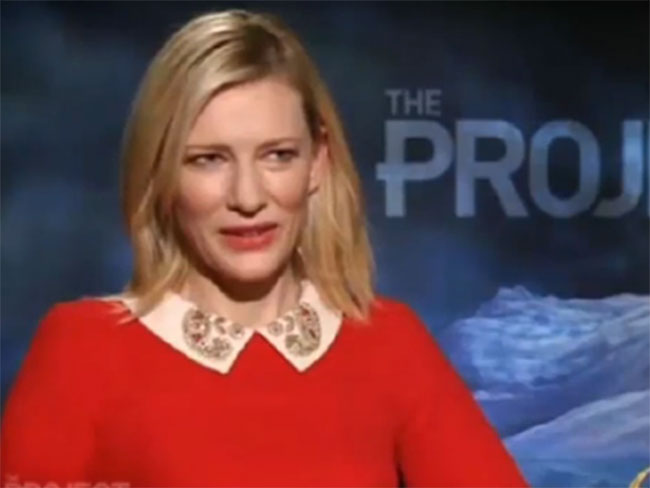 Cate Blanchett loses it with reporter mid-interview