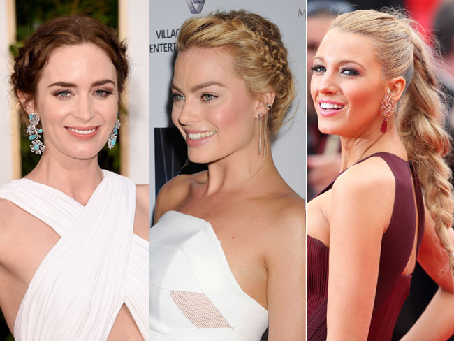 Celebs with plaits and braids for days