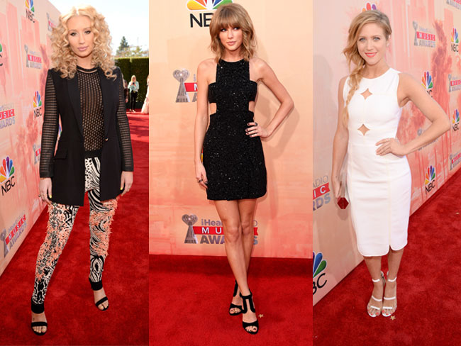 What celebs wore on the iHeartRadio red carpet