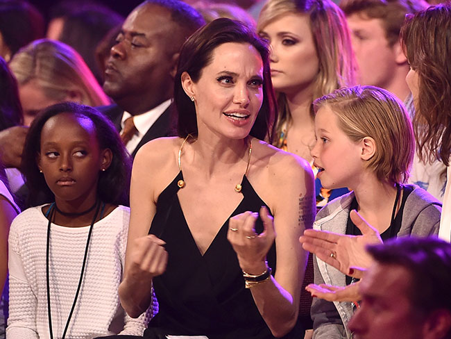 Angelina Jolie took her kids to the Kids Choice Awards
