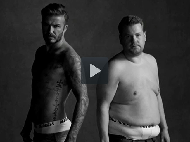 Watch David and James jump around in their undies
