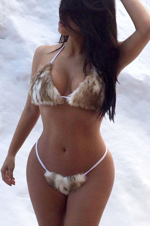Because wearing a furkini doesn't count unless you post a photo. Right Kimmy?